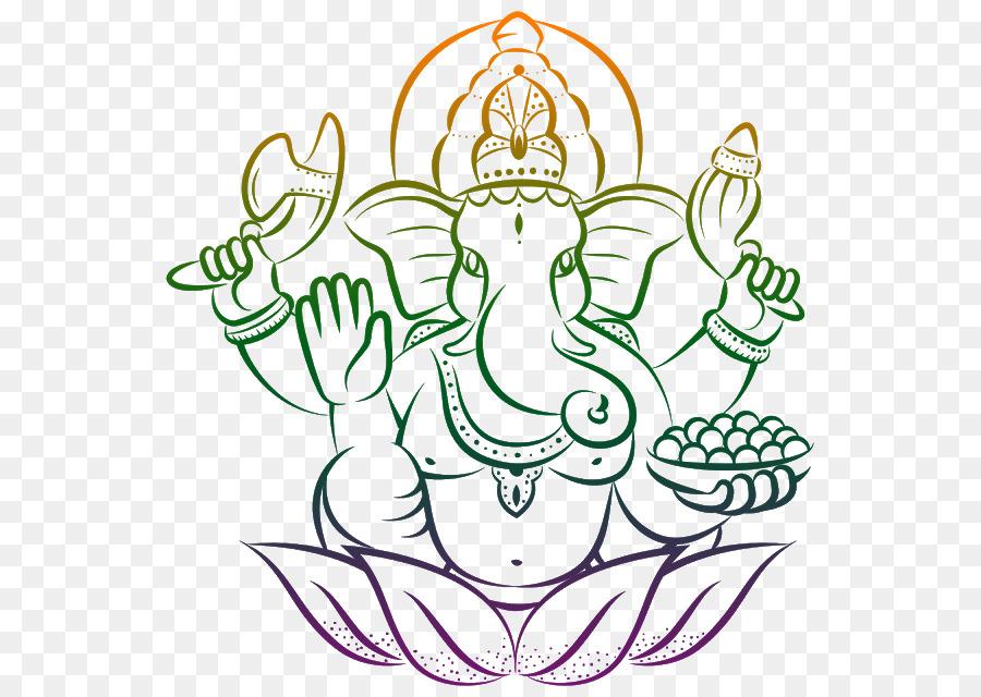 Ganesh Chaturthi Simple Art