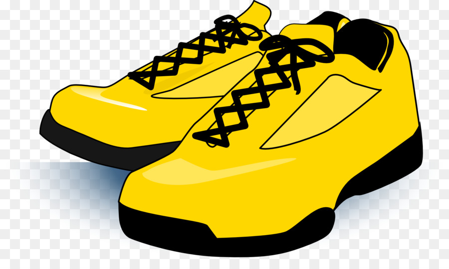 Shoes Cartoon clipart , Yellow, Product, Font, transparent