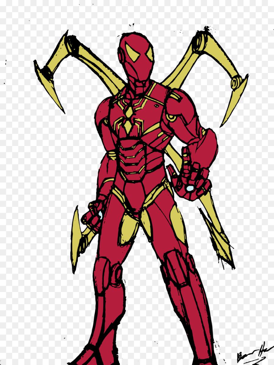Iron Spider Suit Coloring Pages Super Kins Author