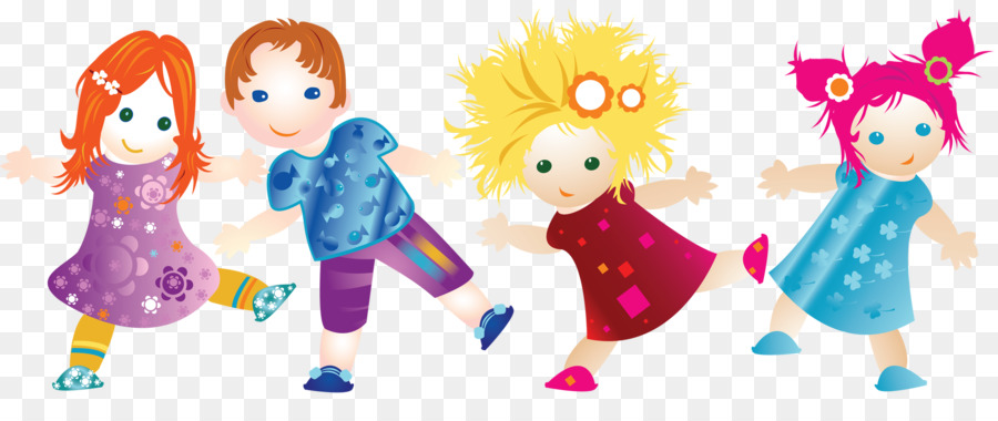 Friendship Cartoon Clipart Child Illustration Dance Transparent Clip Art
