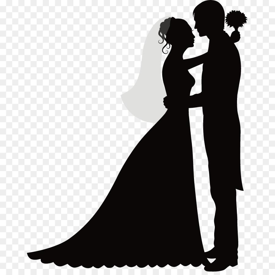 Bride And Groom Cartoon clipart - Bride, Silhouette ...