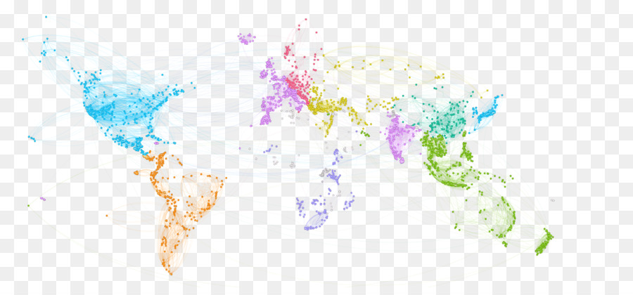 Tree Watercolor clipart - World, Map