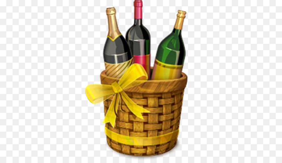 Grape Cartoon Clipart Wine Basket Bottle Transparent Clip Art