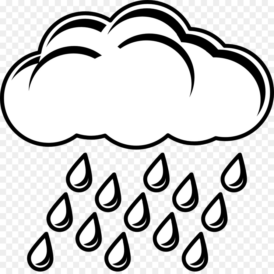 Love black and white clipart rain drawing cloud