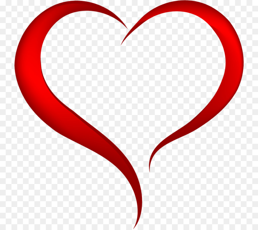 Download Heart Clipart Line Heart Point Heart Red Text Love - Clip-art-of-heart