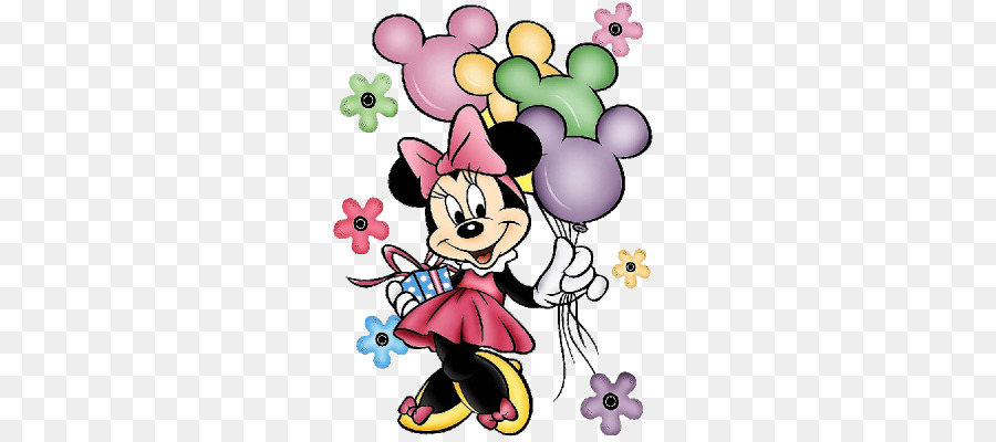 Minnie mouse birthday. Drawing party transparent png