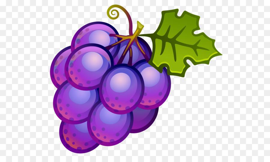 Purple Watercolor Flower Clipart Wine Grape Fruit Transparent