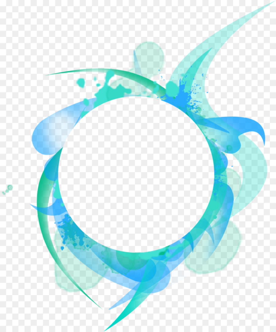 blue circle frame png clipart Borders and Frames Clip art