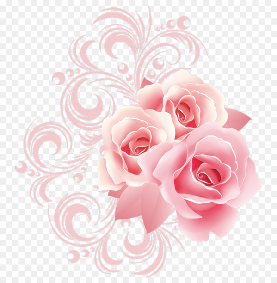 Floral Pattern Background Clipart Rose Flower Pink