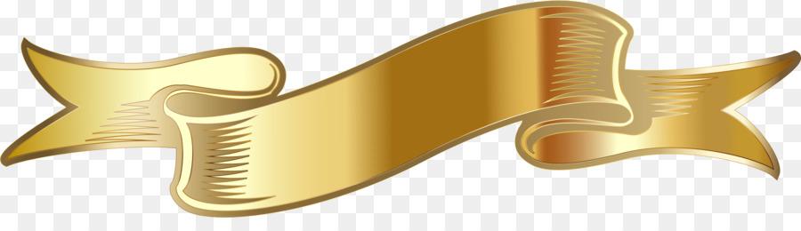 Ribbon gold. Backgroundtransparent png image clipart