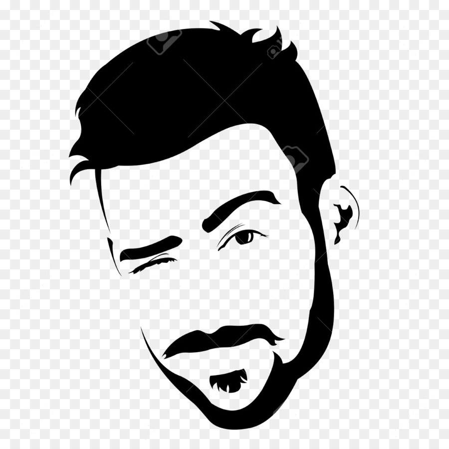 Bearded man. Moustache cartoon clipart beard