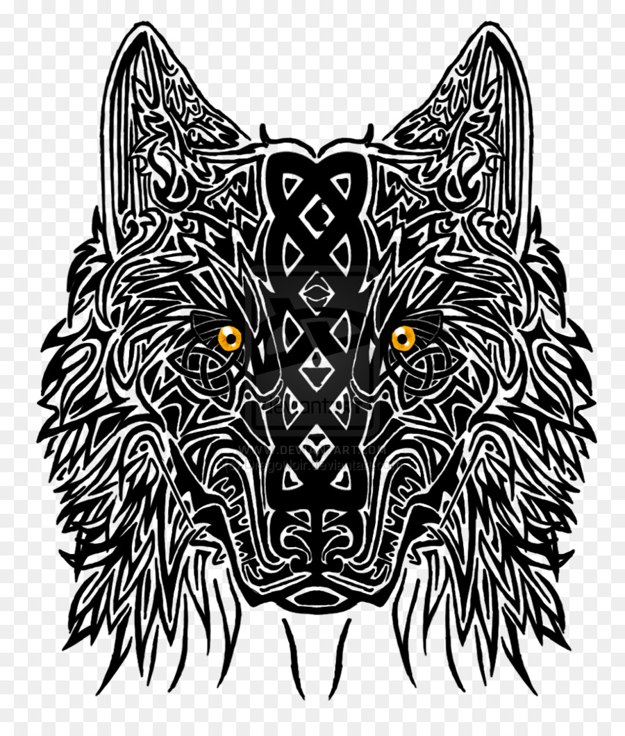 9b55902345f9a celtic tattoos wolf clipart Wolf Tribal Tattoo Designs from the America's
