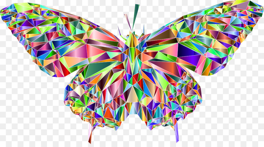 low poly art butterflies clipart Swallowtail butterfly Monarch butterfly Clip art