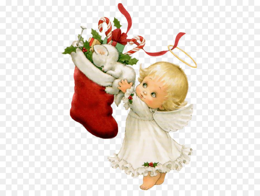 Christmas Angel Clipart.Christmas Decoration Cartoon Clipart Angel Flower