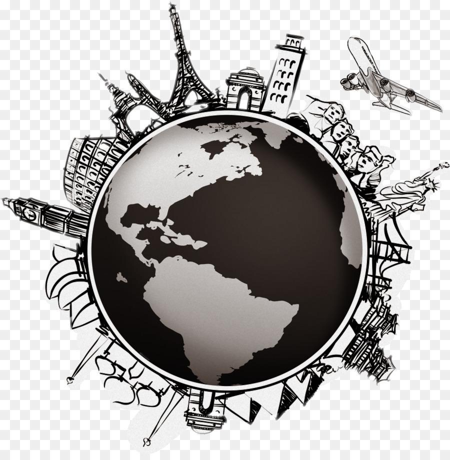 Travel World Map Clipart World Illustration Travel Transparent Clip Art