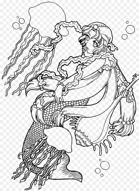 Download Coloring Book Clipart Imagimorphia Coloring Book Jellyfish