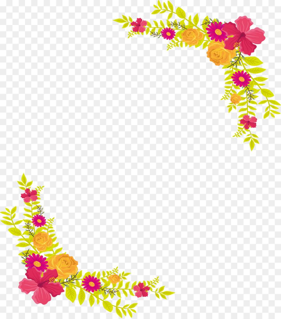 Download Yellow Flower Border Png Clipart Floral Design Flower Clip Art