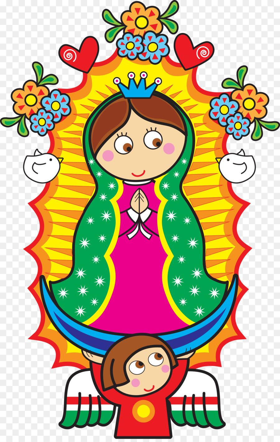 Hand painted two girls reluctantly png image_picture free download  611442444_lovepik.com