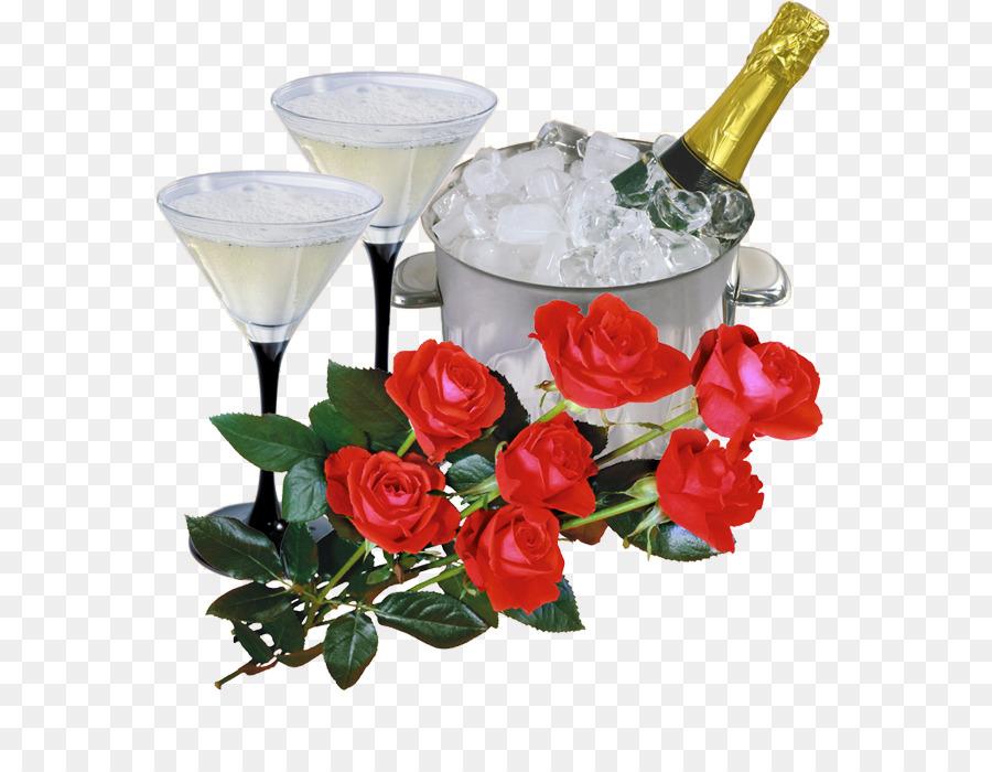 Открытки с розами и шампанским, пожеланиями удачи