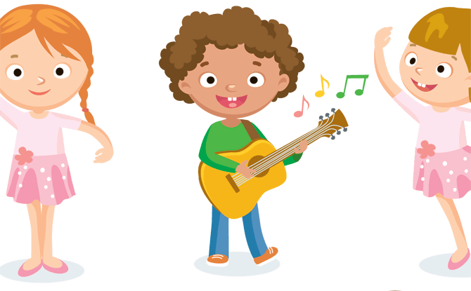 Friendship Cartoon Clipart Dance Child Music Transparent Clip Art