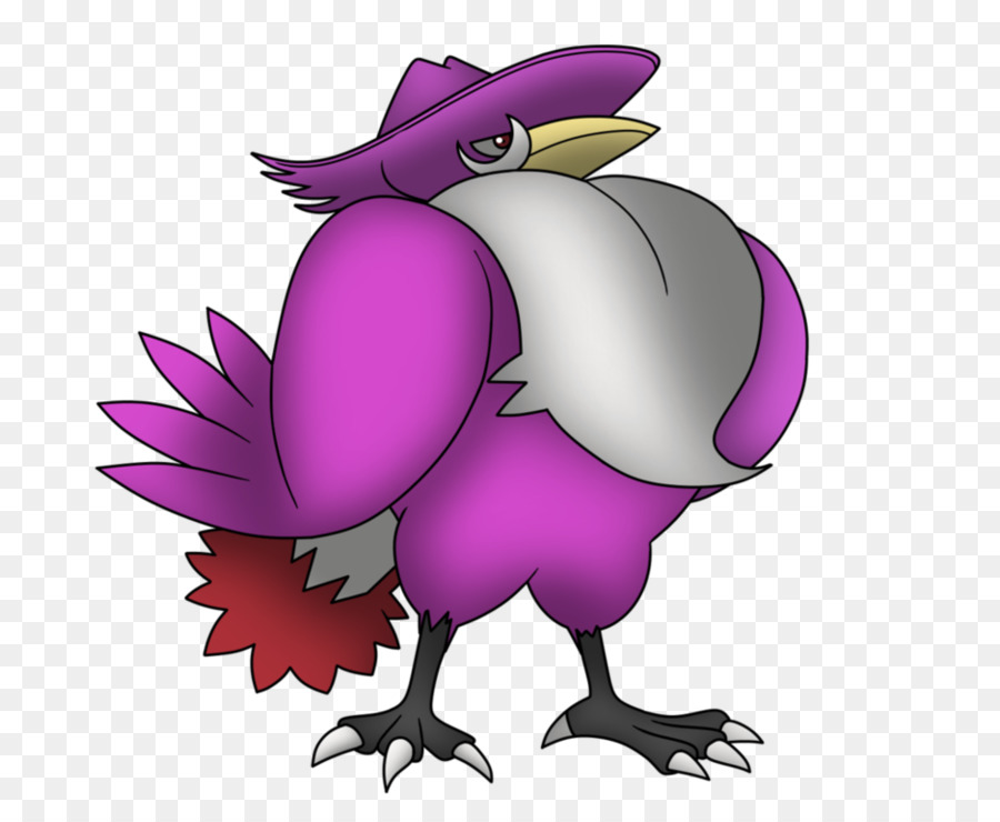 Purple Flower Clipart Chicken Bird Purple Transparent Clip Art
