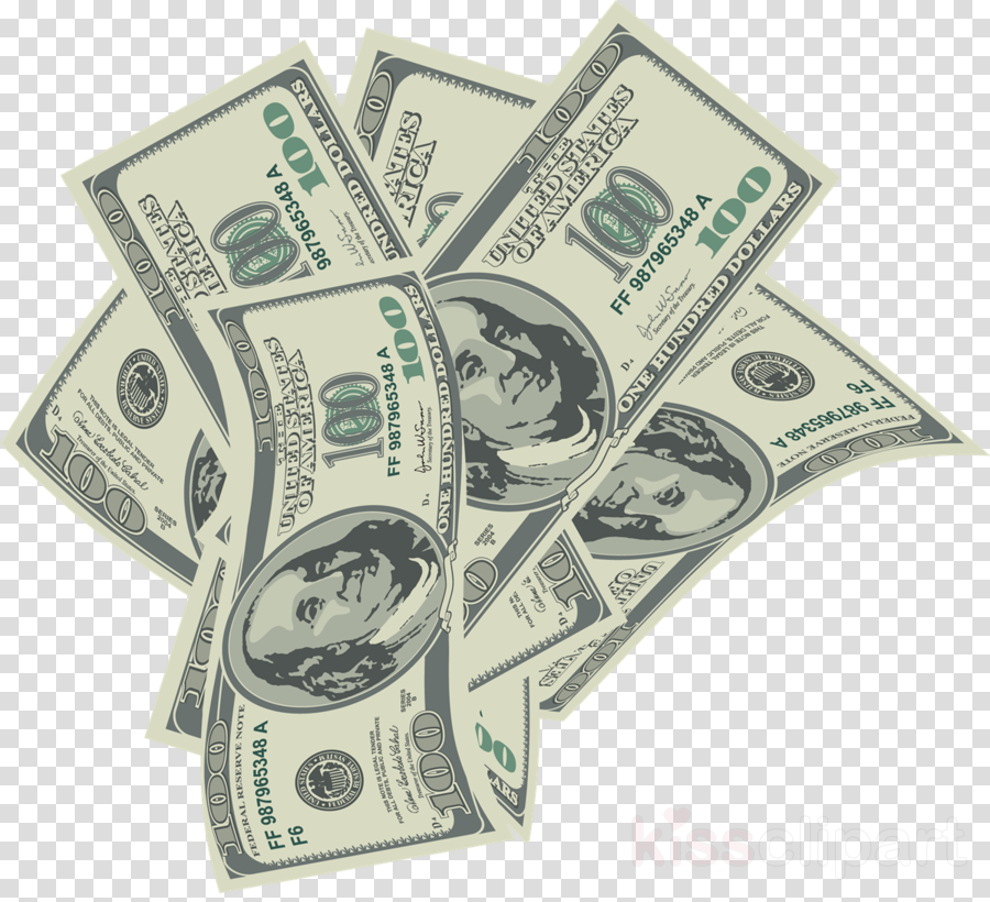 Money cash. Cartoon clipart product transparent