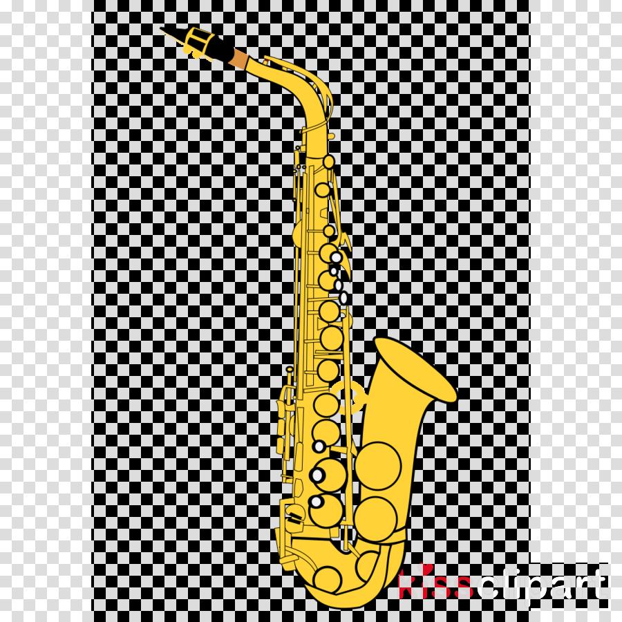 Brass Instruments clipart - Saxophone, Cartoon, Art, transparent ...