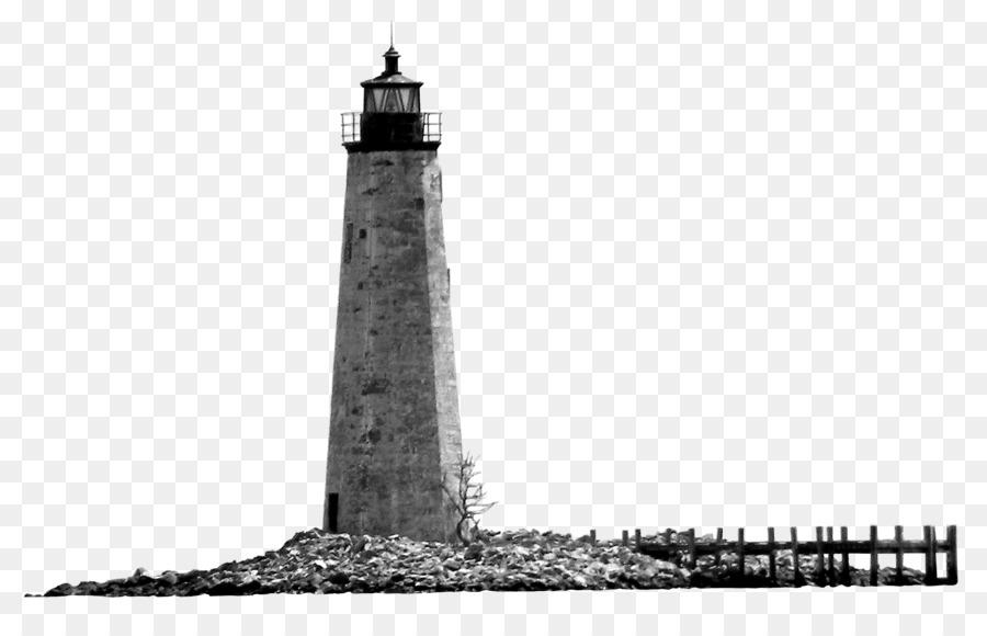 灯塔尖顶黑白灯塔