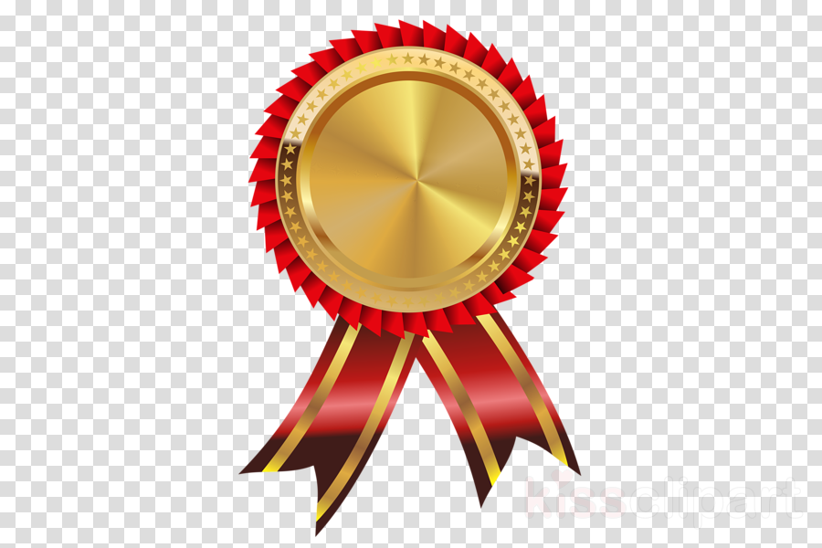 Ribbon circle. Gold background clipart medal