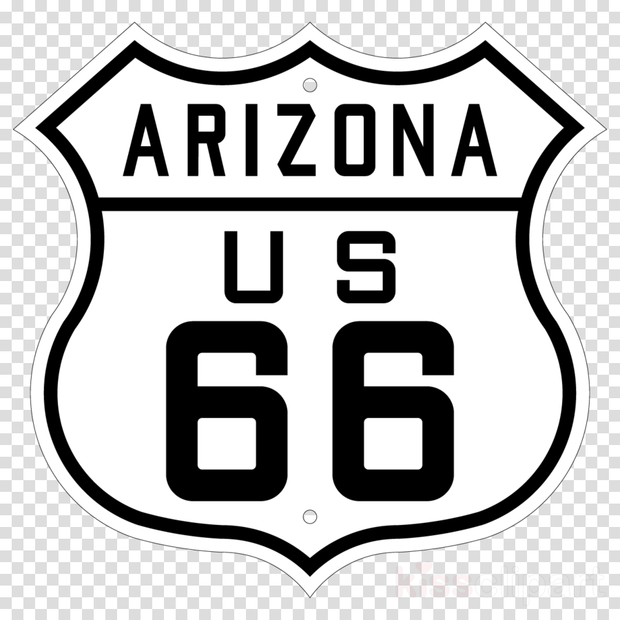 U.S. Route 66 Sign Road Symbol PNG, Clipart, Area, Black And White, Brand,  Circle, Highway Free