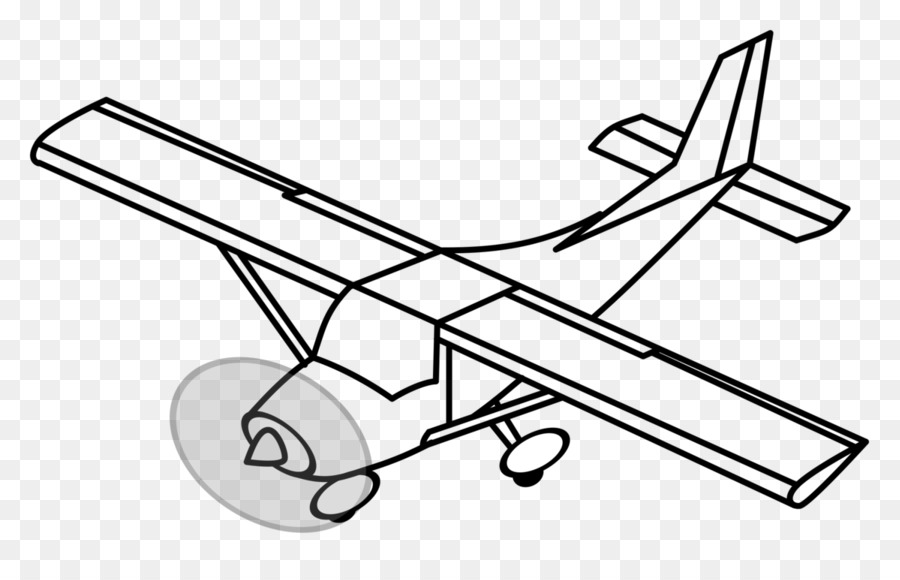 Airplane Drawing Clipart Airplane Wing Line Transparent Clip Art