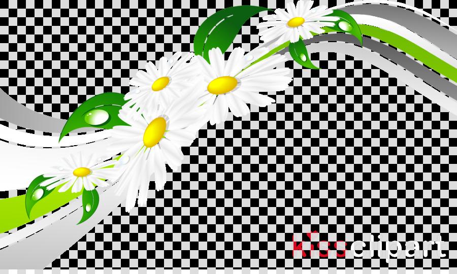Floral Border Design Clipart Illustration Flower Green