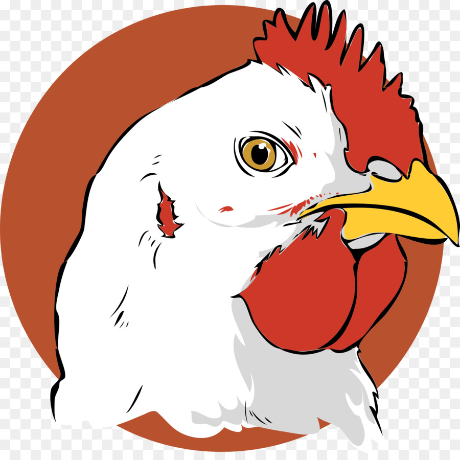 rooster head cartoon - HD 2000×1972