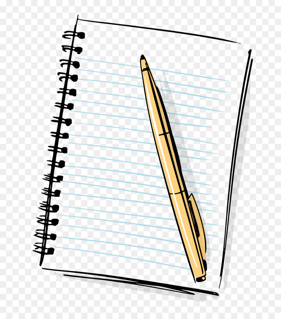 Download Cartoon Notebook And Pencil Clipart Paper Notebook Pencil