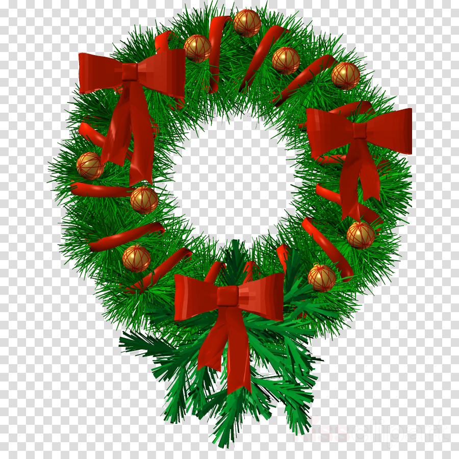 Christmas Garland Drawing.Christmas Wreath Drawing Clipart Wreath Illustration