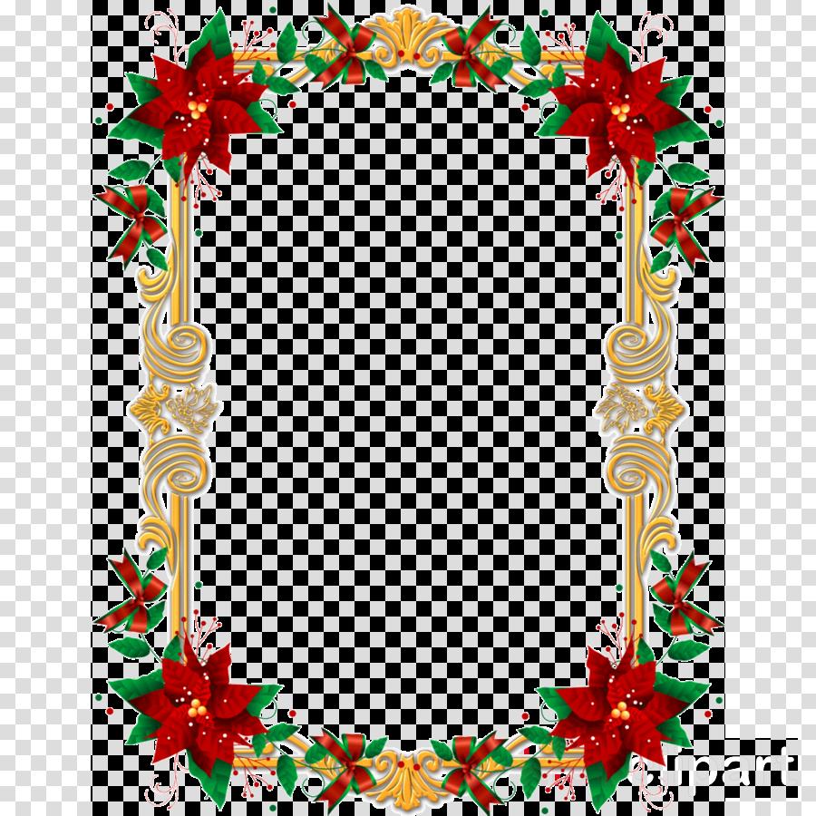 Christmas Border Design.Christmas Border Design Clipart Flower Leaf Line