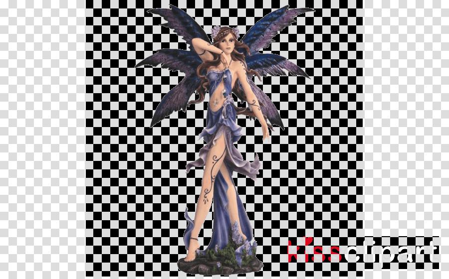 major-q standing purple fairy figurine clipart Fairy Figurine Statue