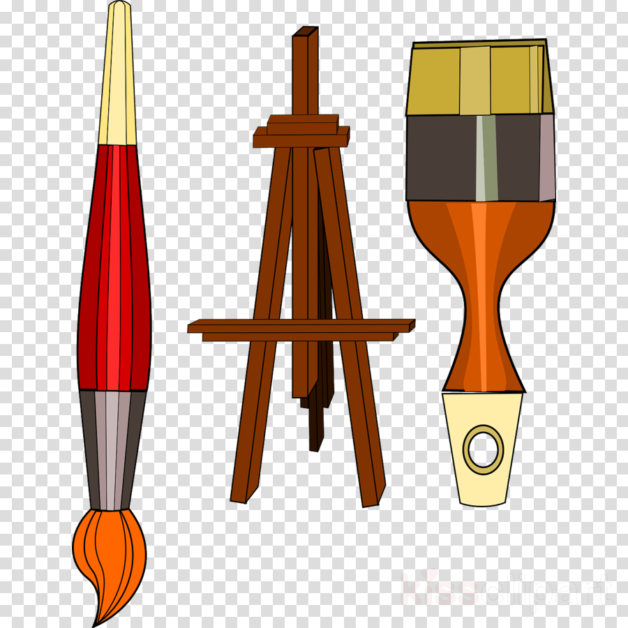 Paint Art Supplies Cartoon
