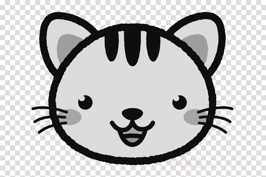 Cute Cat Cartoon Clipart Drawing Cat Face Transparent Clip Art