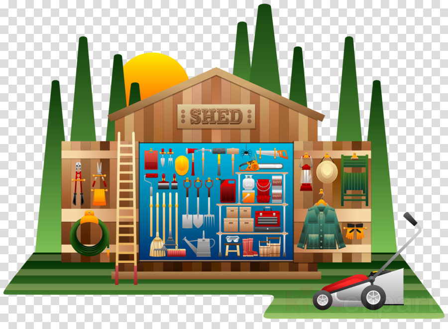Shed clipart Hand tool Shed Garden tool