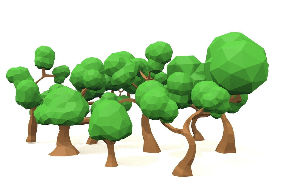 tree clipart Tree Low poly 3D computer graphics