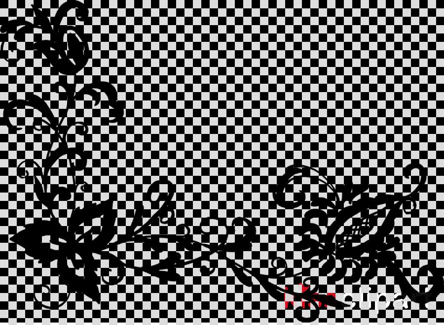 Black And White Flower Clipart Flower Pattern Design