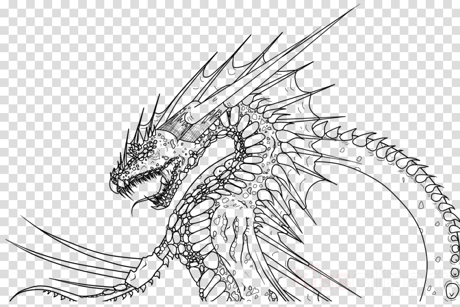 Dragon Drawing Clipart Drawing Dragon Sketch Transparent Clip Art