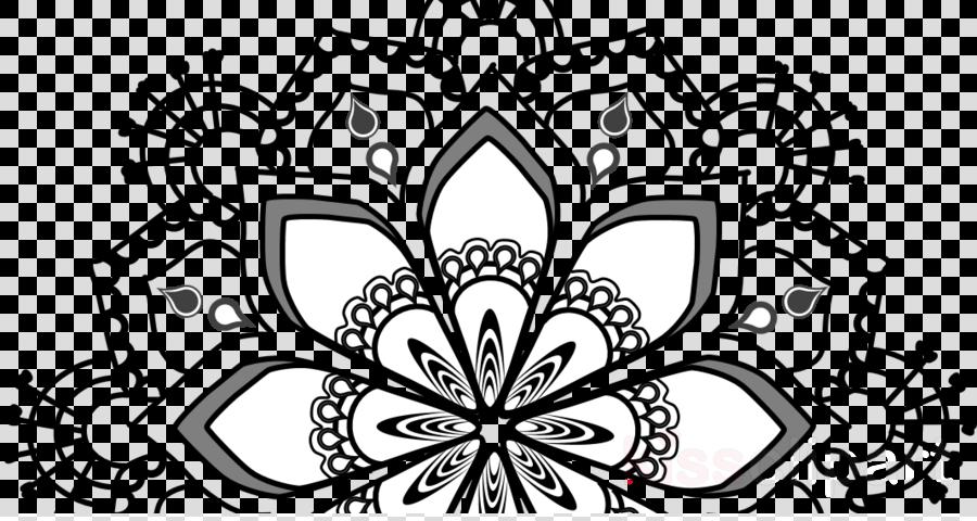 Mandala Drawing Flower Pattern Design Font Line Art