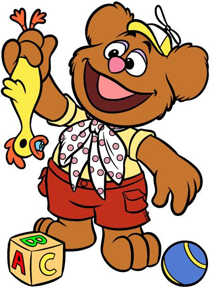 disney junior's muppet babies clip art clipart Fozzie Bear Miss Piggy Animal