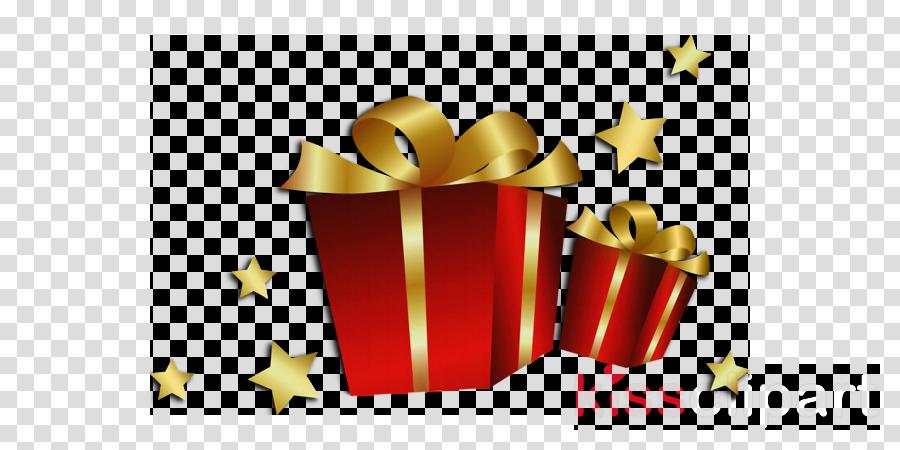 Christmas Gifts Cartoon Clipart Gift Yellow Text Transparent Clip Art