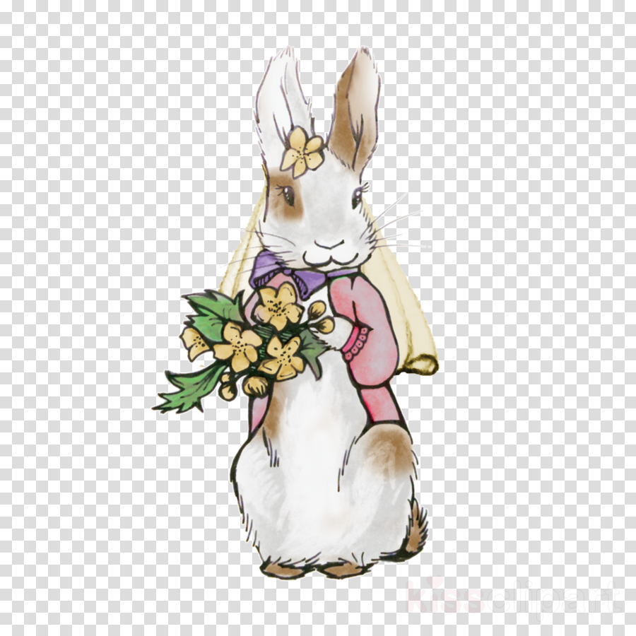 Rabbit Cartoon Flower Transparent Png Image Clipart Free Download