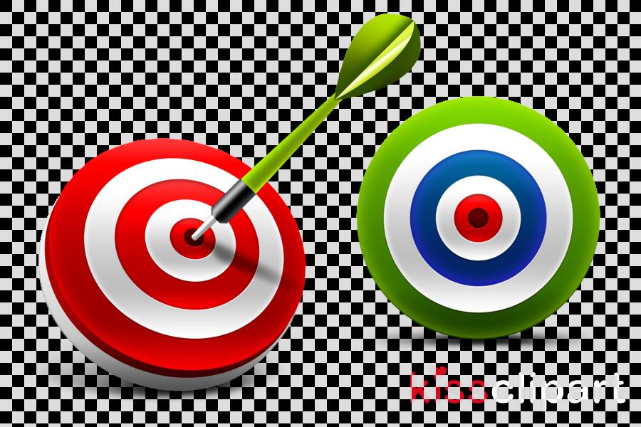 Darts Clipart Bullseye - Arrow To Target Vector, HD Png Download - kindpng