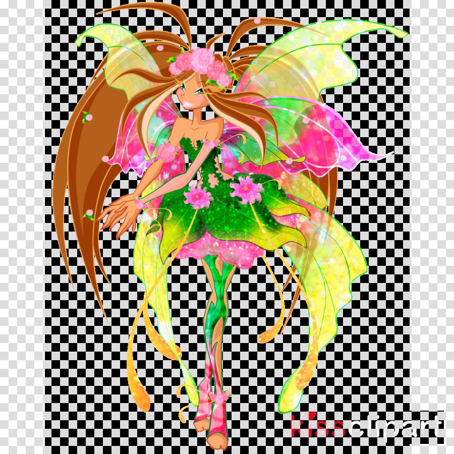 winx club clipart Flora Bloom Tecna