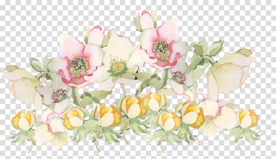 flowers painting png clipart Flower Painting Watercolor: Flowers